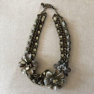 One of a kind flower and chain necklace